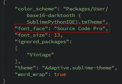 sublime text添加source code pro